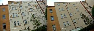 1. Oprava fasády dvora a klempířských prvků Hotelu v pražské ulici Malá Štěpánská.