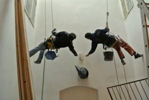 2. Oprava fasády dvora hotelu vápennými omítkami_Starwork_výškové práce