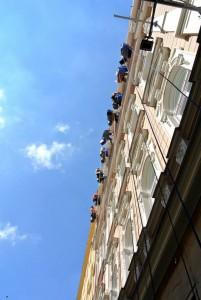 2. Oprava fasády hotelu na Praze 1_Starwork_práce z lana